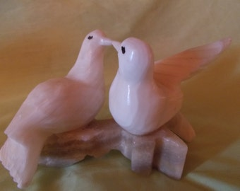 Marble Love Birds On Branch