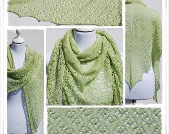 Knitting Pattern Lace Shawl Daisy