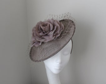 Taupe/Oyster Grey Disc Hat