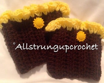 Sunflower Boot Cuffs/Socks/Rain Boot Liners