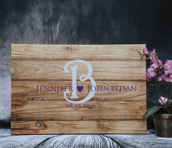 Wedding Website Password Ideas: Wedding Guest Book Ideas On Wood Canvas Rustic Wedding Sign