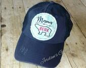 Mama Bear Arrow Navy Trucker Hat