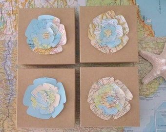 Travel Theme Party Favor, Map Favor, Travel-Inspired