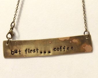 but first ... coffee pendant necklace