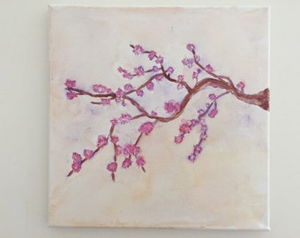 Cherry Blossom Painting (12 in by 12 in)