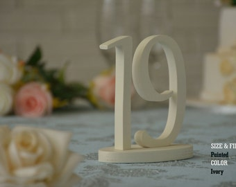 Wedding Table Numbers, SET 1/20, Elegant Wedding Table Numbers, Gold Table Numbers, Silver Table Numbers