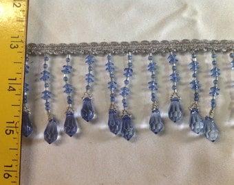 6.5 yards of Elegant Blue Beaded Trim.......NEW #77.......Way Below Wholesale
