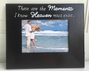 Romantic Personalized Frames Gift for bride to groom Gift from groom to bride Engagement Announcement Edwin McCain Lyrics on a frame Black