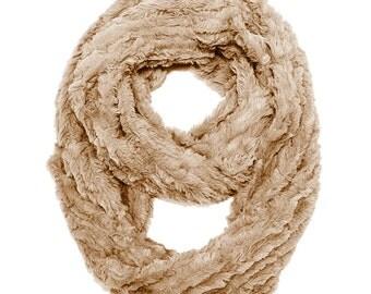 Caramel Faux Fur Infinity Scarf