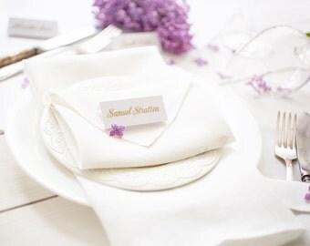 Wedding napkins set 30 - White napkins - White linen napkins - linen napkin cloths - Dinner napkins - Wedding table linens