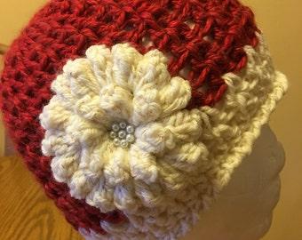 Pretty girls crochet hat.