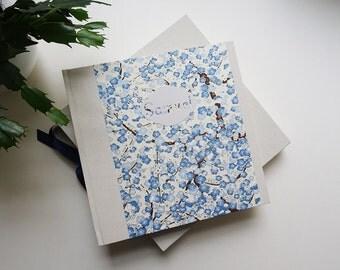 Cadeau de naissance / Etui et Album photo personnalisé en papier japonais