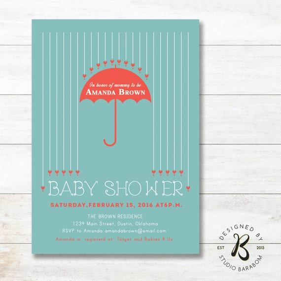 Unique Baby Shower Invitations, Couples Boy Baby Shower Invitation
