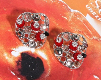 Swarovski Crystal Tomato Garden Earring
