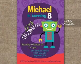Boys Birthday Invitation Rd Birthday Invitations - Birthday invitation card for 8 year old boy