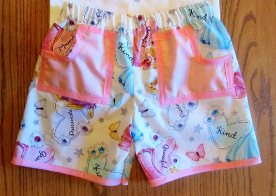 Princess shorts/girls shorts/cotton shorts/shorts wih pockets/Disney shorts/Cinderella shorts/Repunzel shorts/Sleeping Beauty shorts/