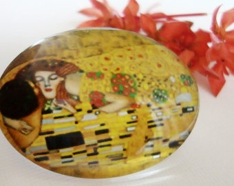 The Kiss Glass Cabochon