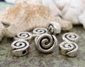 5 Spiral Beads
