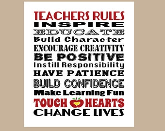 Teacher Gift, Teacher Appreciation Gift, New Teacher Gift, School Gift, Graduate Teacher Quote, Teacher Christmas Gift, INSTANT DOWNLOAD