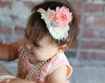 Baby Girl  Headband, 1st Birthday Headband, Newborn Baby Headband, Baby Photoprop, Boutique Headband, Boutique Bow, Headband for Girl