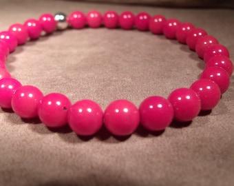 Red sea coral stretch bracelet