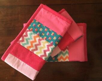 Baby Teething Crib Guard - Owl Nursery - Pink and Teal