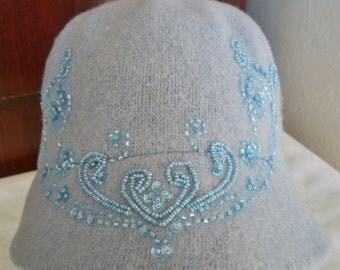 Vintage Beaded Hat by Nine West