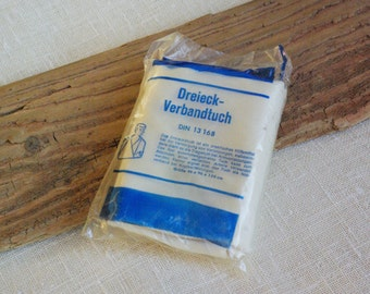 Triangular bandage cloth vintage first aid medical arm sling for medicine collection old cotton bandage made in Germany