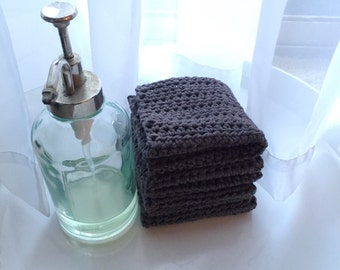 Crocheted Dishcloth Set-Dusty Grey
