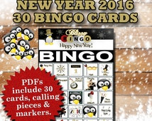 Blizzy Bingo NEW YEAR printable PDFs contain everything you need to play Bingo. You'll get 30 bingo cards, calling cards & markers.