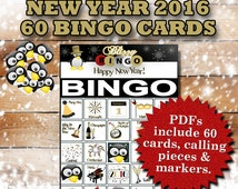 Blizzy Bingo NEW YEAR printable PDFs contain everything you need to play Bingo. You'll get 60 bingo cards, calling cards & markers.