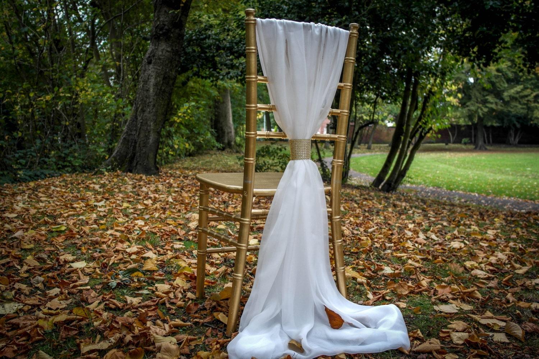 wedding chair sash wedding chiffon chair cover sash include
