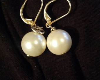 Culture Pearls 12mm and Sterling Silver