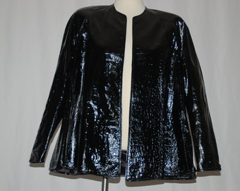 Vintage Patent Leather Jacket
