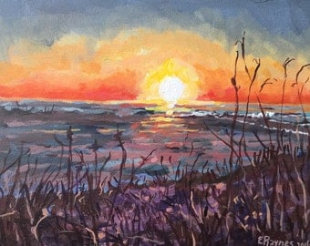 """Original Painting, """"Back Bay, End of Day"""""""
