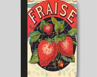 iPad Folio Case, iPad Air Case, iPad Air 2 Case, iPad 1 Case, iPad 2 Case, iPad 3 Case, Fraise Strawberries Vintage French Advert