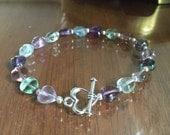 Heart Fluorite Bracelet.