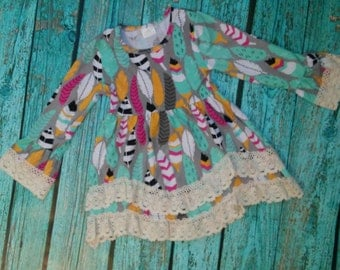 Girls Boutique Feather Dress