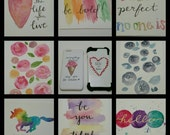 PRE ORDER* Iphone, Samsung Cellphone Cases- Watercolor Designs 10 options