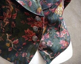 Dark Floral Vest