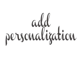 add personalization to a product