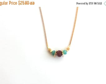 SUMMER SALE Minimalist crystal gold necklace, gold layering crystal necklace, tiny gold necklace