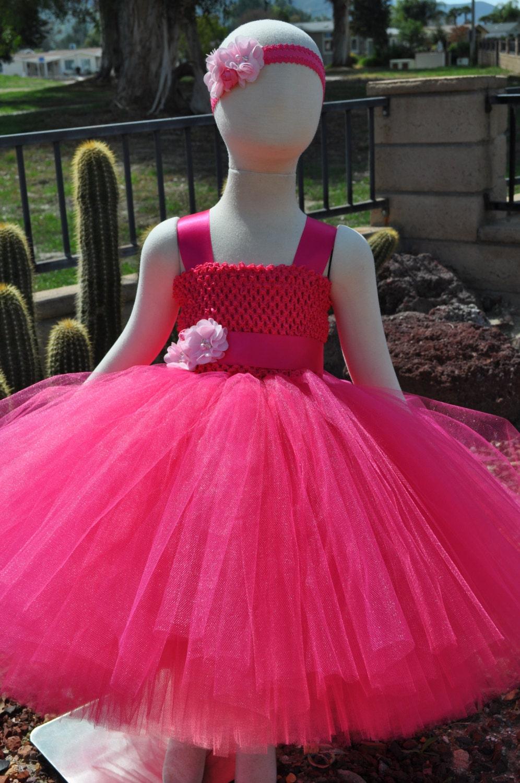 Fuchsia Flower Girl Dresshot Pink Flower Girl Dressfuchsia Toddler
