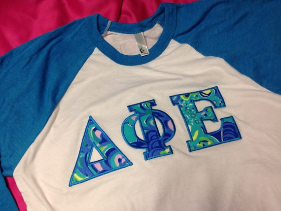 Delta Phi Epsilon Baseball T Shirt In Size Xs To Xl Just