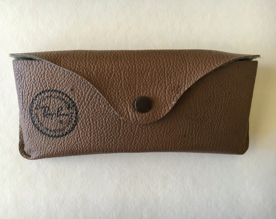 ray ban sunglasses case for sale  sale: brown vintage ray ban slim sunglasses case