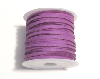 5 Meter/Roll Purple Faux Suede Cord  3x1.5mm( No.32)
