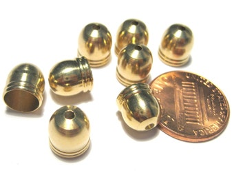 20pcs Raw Brass End Tip Bead Caps Tassel caps 8mm Cone Caps(lo1)