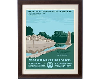 Washington Park (Chicago Neighborhood) WPA-Inspired Poster