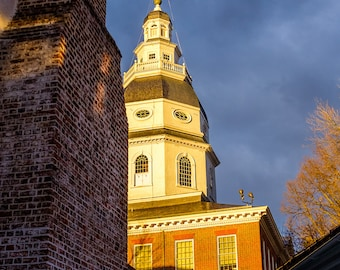 Maryland State House at Sunset