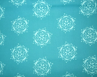 SALE - Fabric - Art Gallery - Lavish bejeweled seal teal - cotton print.